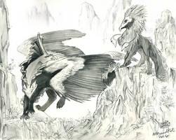 Kroni and Ravak by NekoLynArt