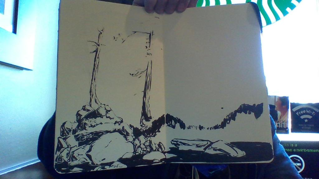 Look I drew a trees and rocks! by Ahkward