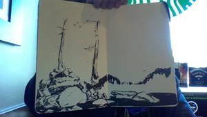 Look I drew a trees and rocks! by NekoLynArt