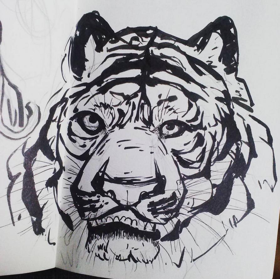 Tiger Inks by Ahkward