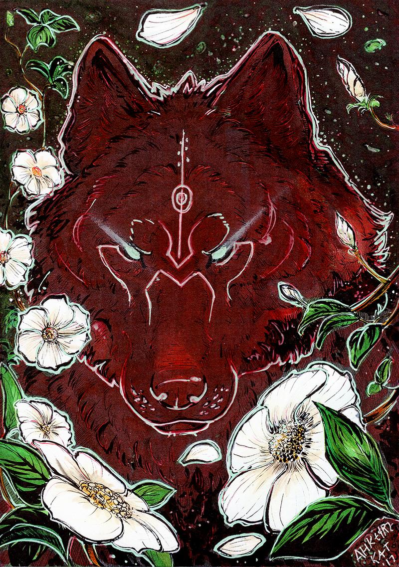 Dogwood Wolf by Ahkward