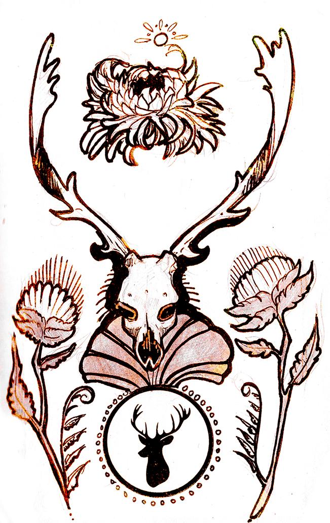 Deer and Weed by Ahkward