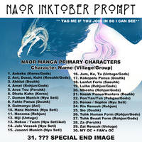 Naor Inktober List