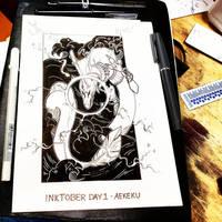 Inktober 01 - Aekeku