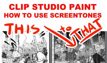YouTube - Screentones in Clip Studio Paint