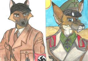 Der Fuhrer und Der Wustenfuchs by ImperialAce