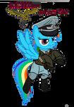 Rainbow Dash  (luftwaffe Uniform) vector