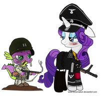 SS Haupsturmfuhrer Rarity and Captain Spike by ImperialAce