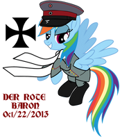Rainbow Dash DER ROTE BARON by ImperialAce