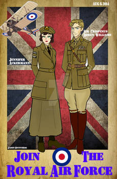 METAL STORM: RAF Poster ( Jenny and Crispin)