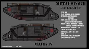 METAL STORM: Diesel punk Mark IV tank