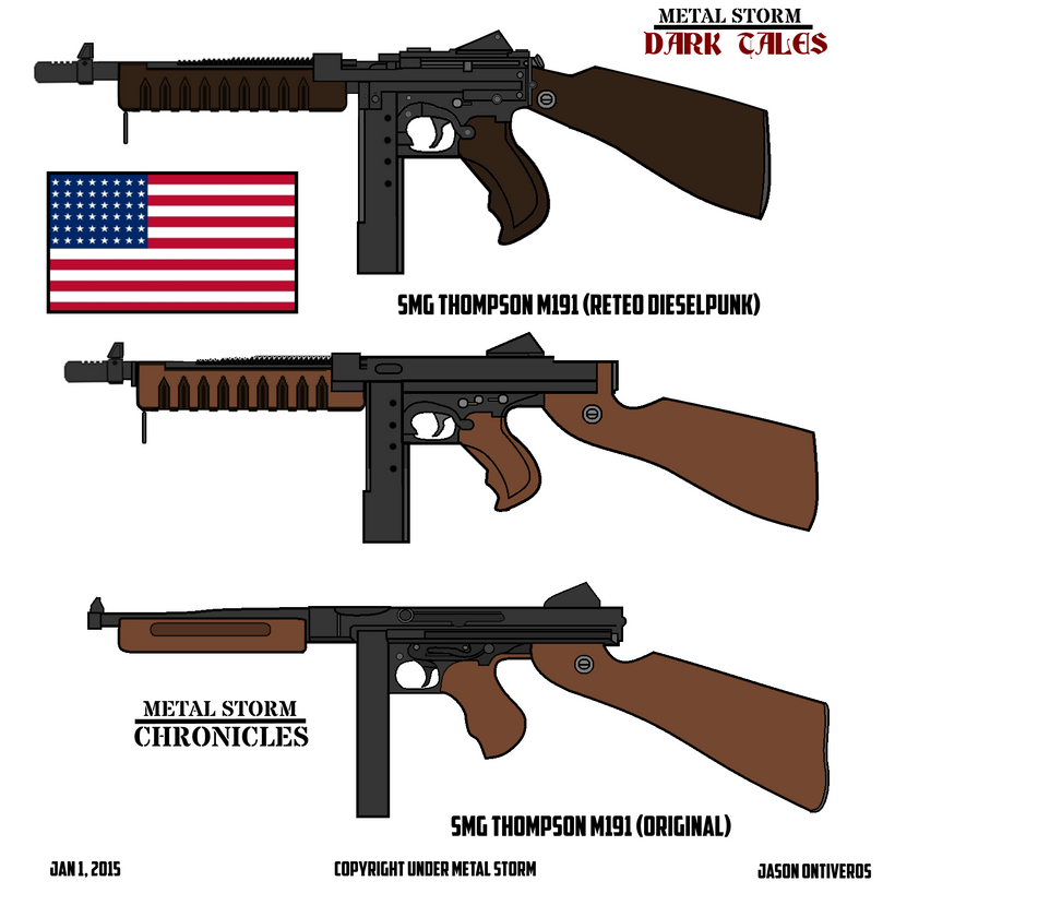 Metal Storm Smg M1a1 Thompson Tommy Gun By Imperialace