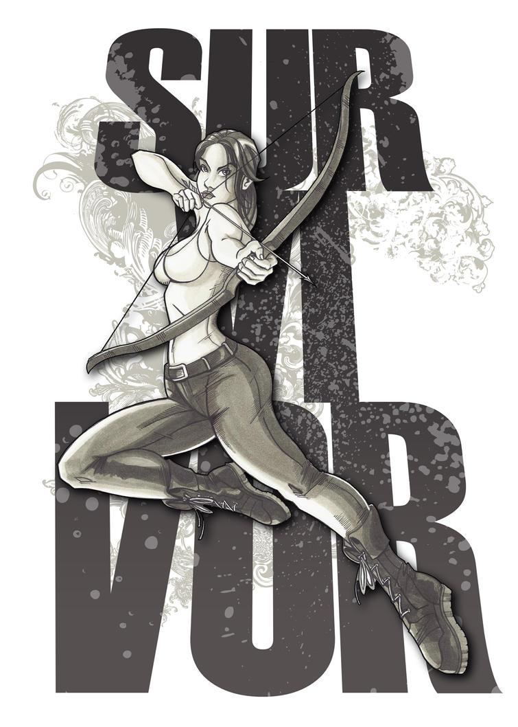 Lara Croft Survivor by emmvill