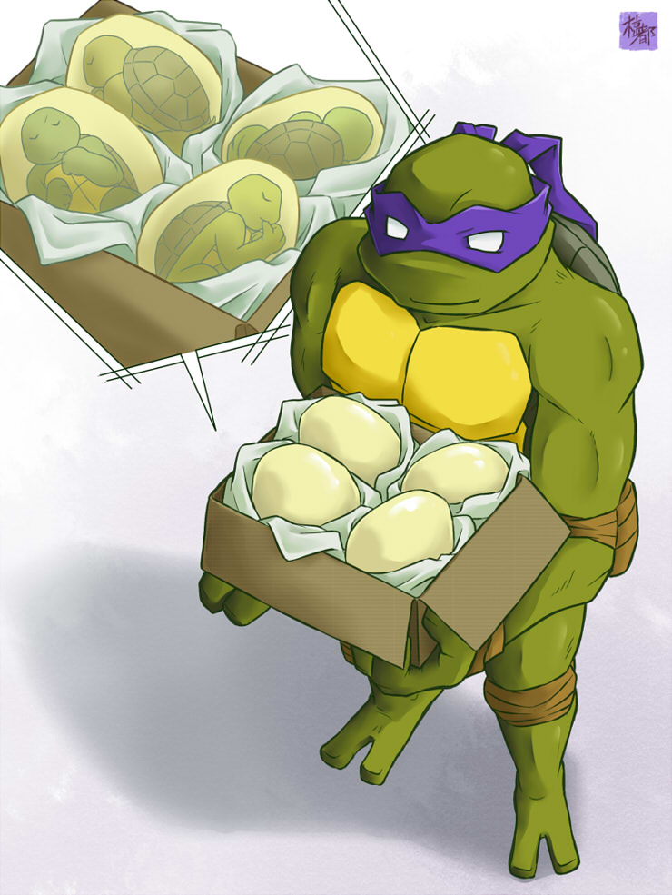 Point commisstion - 2k3 Donatello and eggs by mukuto on ...
