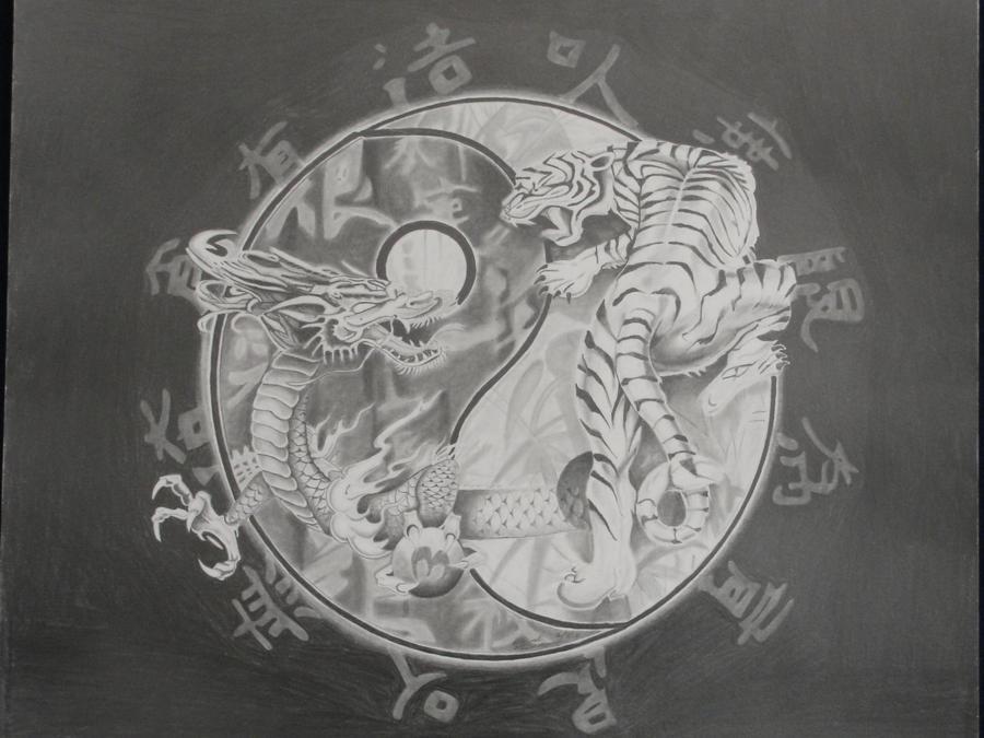 Yin Yang Dragon Tiger by MGuerrero82 on DeviantArt