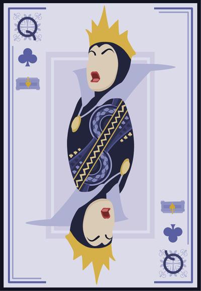 Queen of Clubs by Mr-Bluebird