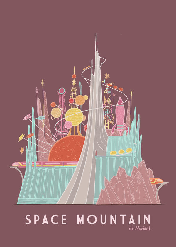 Space Mountain by Mr-Bluebird on DeviantArt