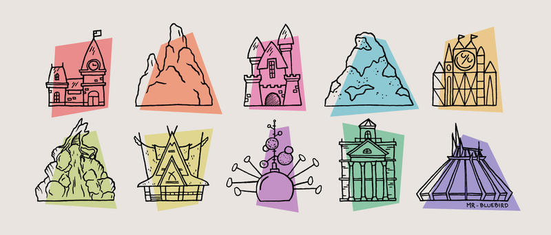 Disneyland Icons by Mr-Bluebird