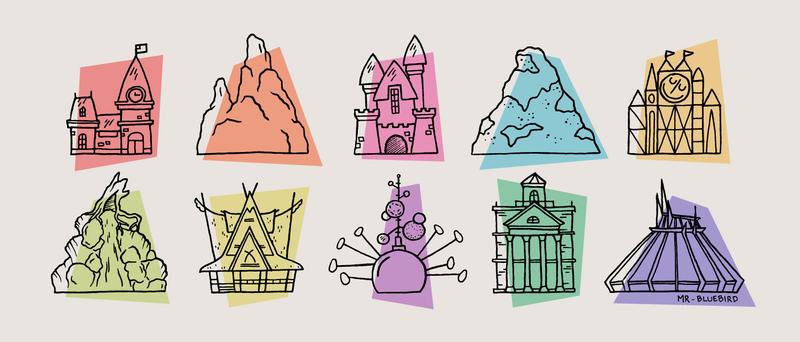Disneyland Icons by Mr-Bluebird