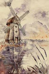 Windmill by GrimDreamArt