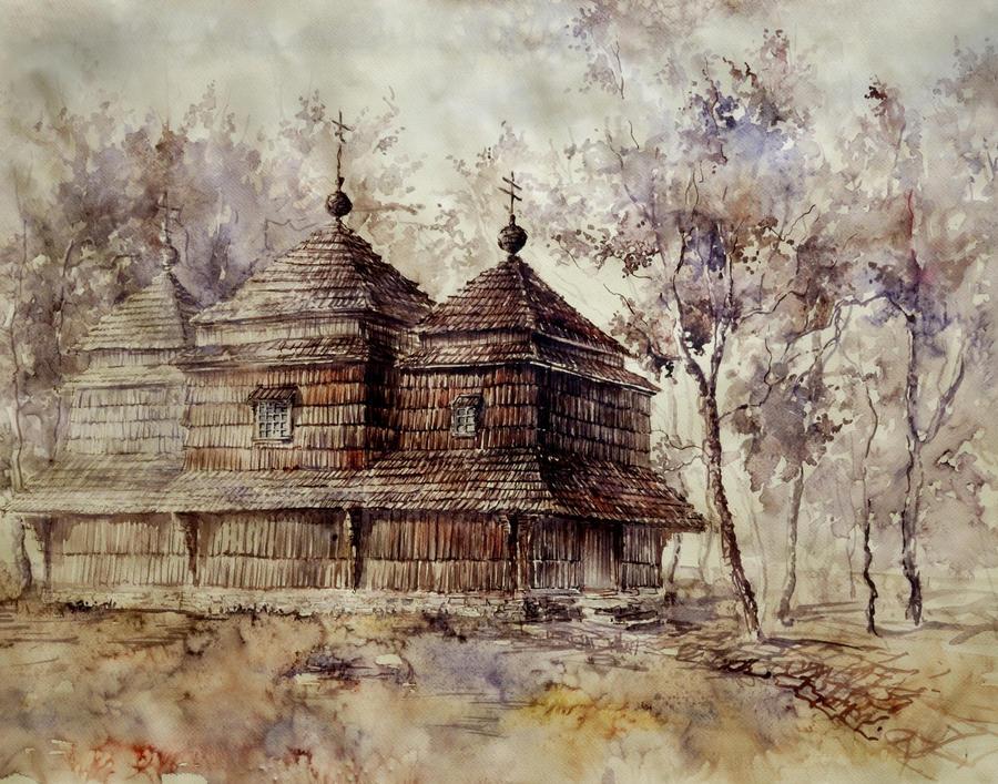 Wooden Church by GrimDreamArt