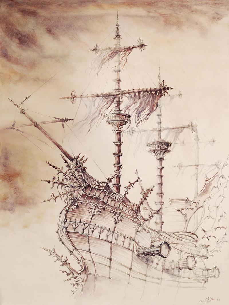 Haunted_Ship by GrimDreamArt