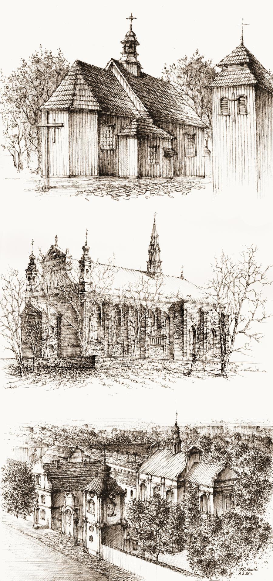 Churches by GrimDreamArt