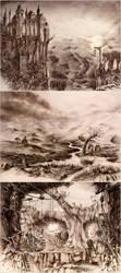 Fantasy Locations by GrimDreamArt