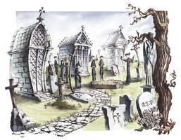 Funeral Scene by GrimDreamArt