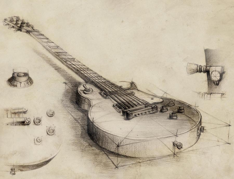 Guitar - vintage style by GrimDreamArt