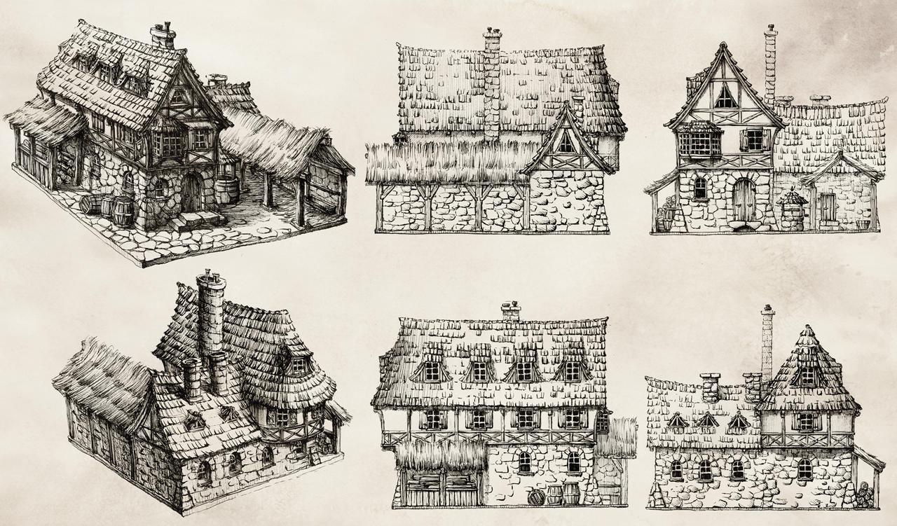 Tavern - concept design by GrimDreamArt