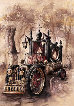 Steampunk Hearse
