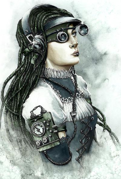Steampunk Girl by GrimDreamArt