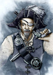 Steampunk Pirate by GrimDreamArt