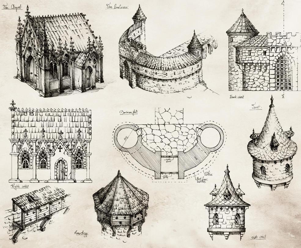 Medieval Castle by GrimDreamArt