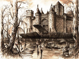 Swamp Fortress by GrimDreamArt