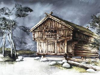 Scandinavian Architecture 2 by GrimDreamArt