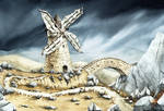 Windmill - card illustration
