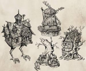 Weird miniature buildings
