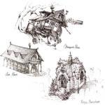 Concept Art - Fantasy Buildings