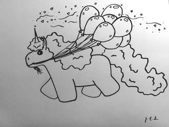 Majestic Minicorn and Balloons by Artofile