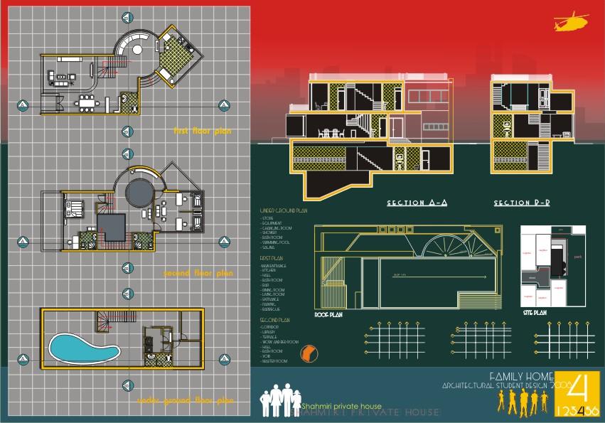 Architectural Sheet Design 4 By Majidtorkian ...