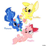 cuddles,petunia and giggles