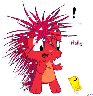 Flaky and cute chick