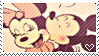 Mickey x Minnie mouse - stamp