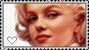 Marilyn Monroe (stamp) by Adelish