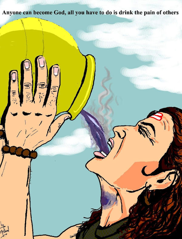 Lord Shiva Drinking Poison Wallpapers for free download
