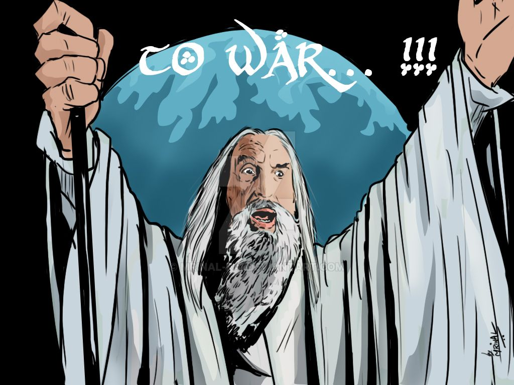 Image result for saruman to war