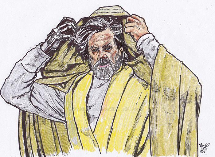 Luke Skywalker in the Last Jedi by mrinal-rai