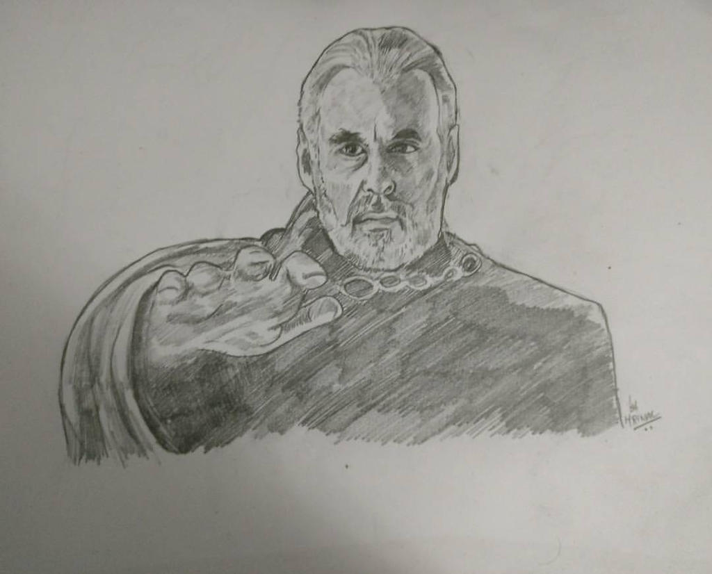 Christopher Lee as Count Dooku by mrinal-rai